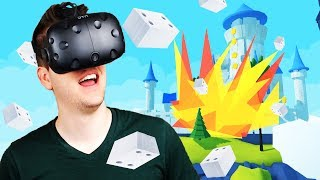 Knocking Down Castles with TNT! - Everything Must Fall Gameplay - HTC Vive VR