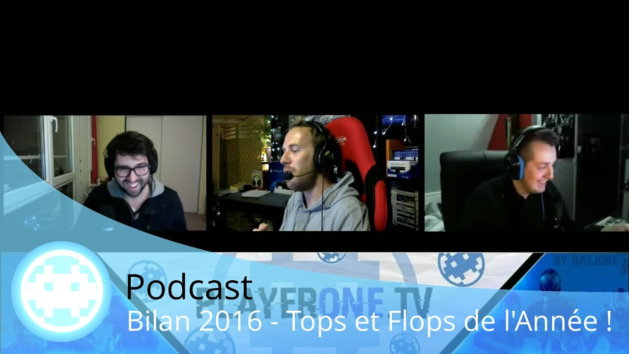 bilan 2016 tops et flops jeux vid o et actualit podcast youtube. Black Bedroom Furniture Sets. Home Design Ideas