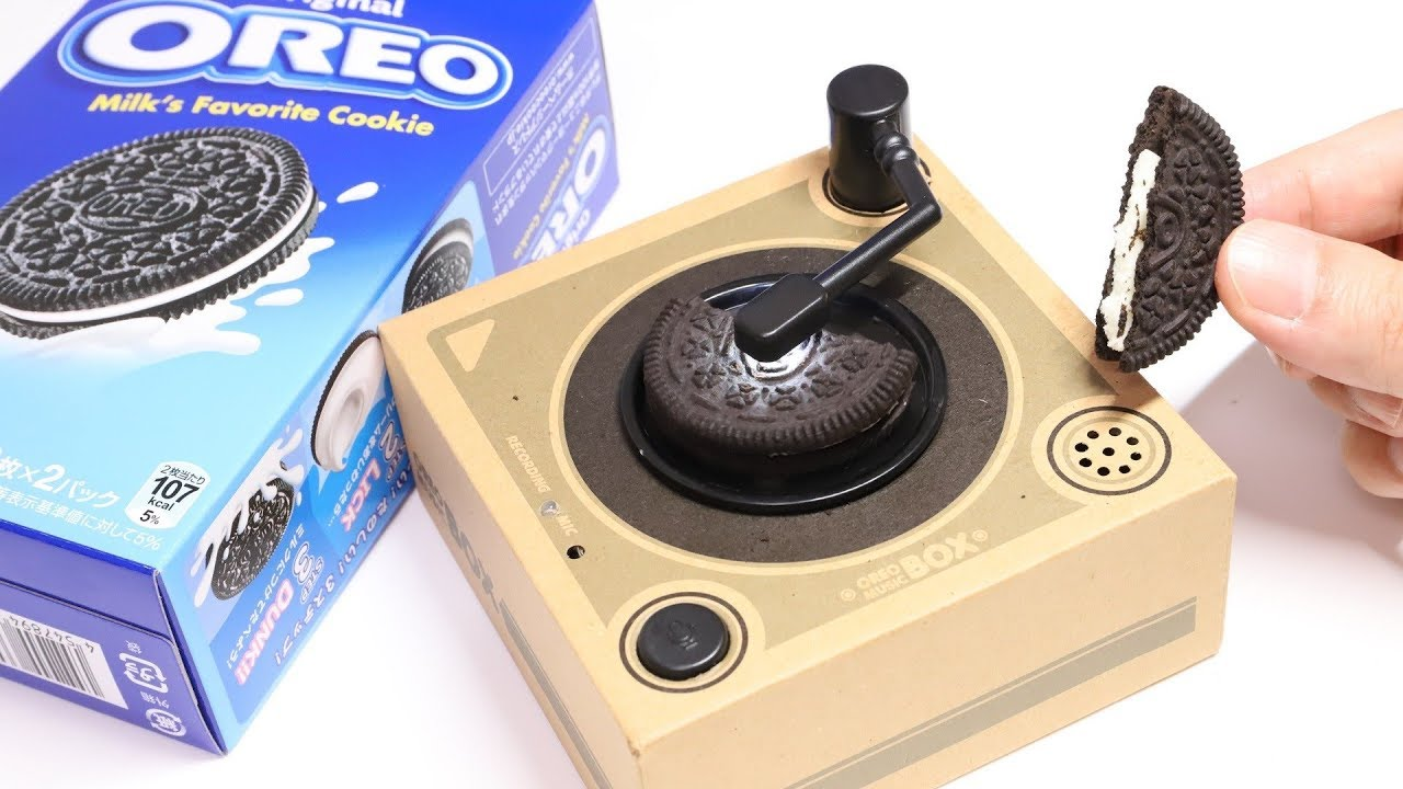 Oreo Music Box Cookie Record Player Japan Version Youtube