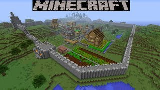 Let's Play Minecraft Ep 41 - City Walls, City Gate And XP Farm