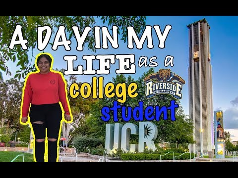 A DAY IN MY LIFE AS A COLLEGE STUDENT IN CALIFORNIA | UC RIVERSIDE
