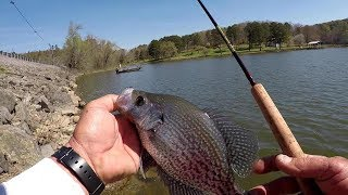 Crappie Fishing From The Bank - Tips For Fishing Rip Rap