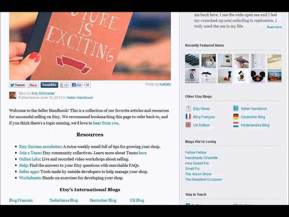 Etsy | Strategies for selling handmade products online