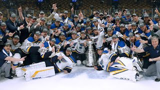 Watch: St. Louis Blues visit White House to celebrate Stanley Cup win