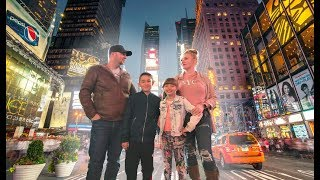 We took 2 of our kids w/ us to NEW YORK CITY!