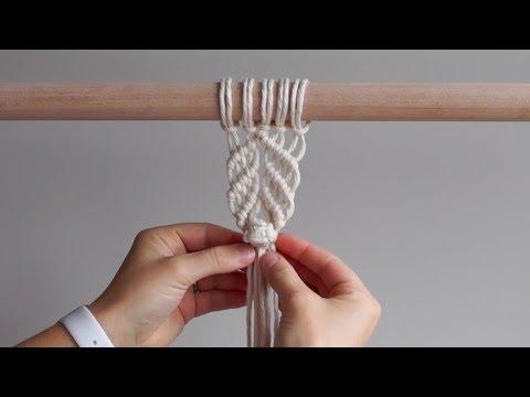DIY Macrame Tutorial - Berry Knot Pattern