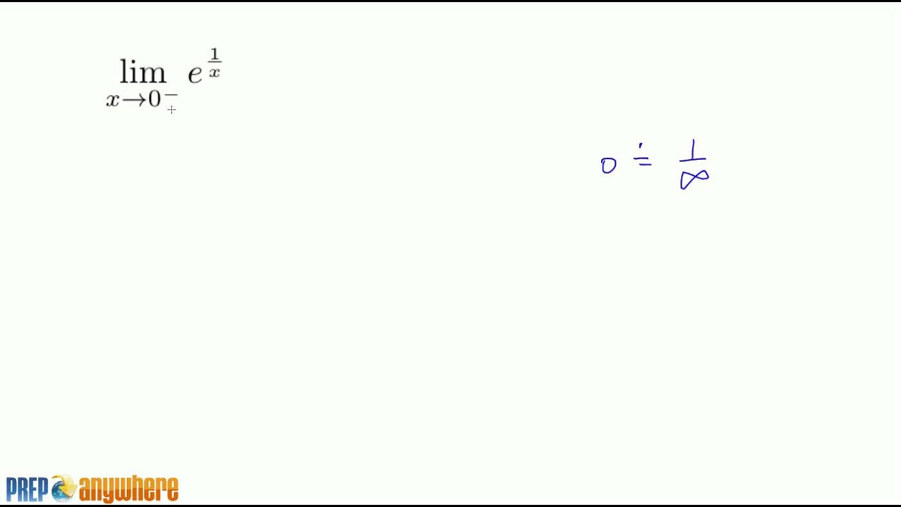 13 Limits At Infinity Example With E 1 X Youtube