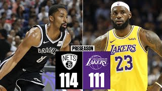 Lakers fall to the Nets, Kyrie Irving exits early after hit to the face | 2019 NBA Highlights