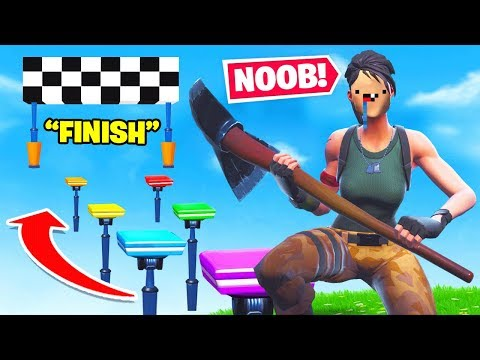 Biggest *NOOB* Parkour Course *NEW* Game Mode in Fortnite Battle Royale