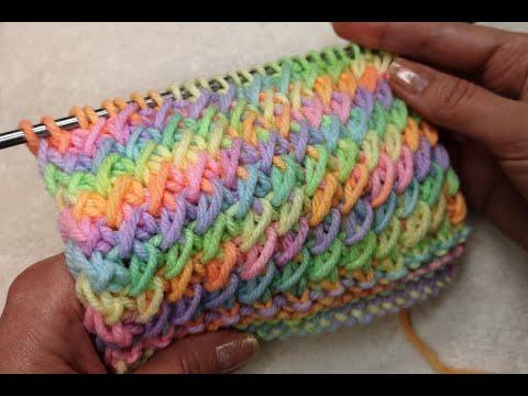 Схемы вязания спицами из меланжевой пряжи