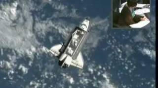 STS-134 Endeavour preparing for final dock with ISS