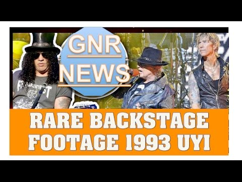 Guns N' Roses RARE Use Your Illusion Footage  Backstage Argentina 1993