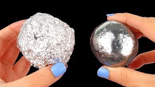 connectYoutube - Mirror polishing aluminum foil ball - Japanese foil ball polishing challenge