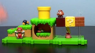 JAKKS Pacific Super Mario Acorn Plains Micro Land Playset (w/ Squirrel Mario) Toy Review