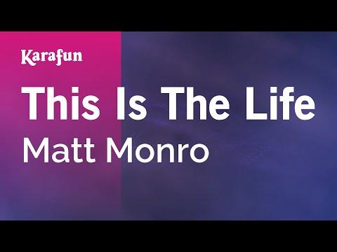 Karaoke This Is The Life - Matt Monro *