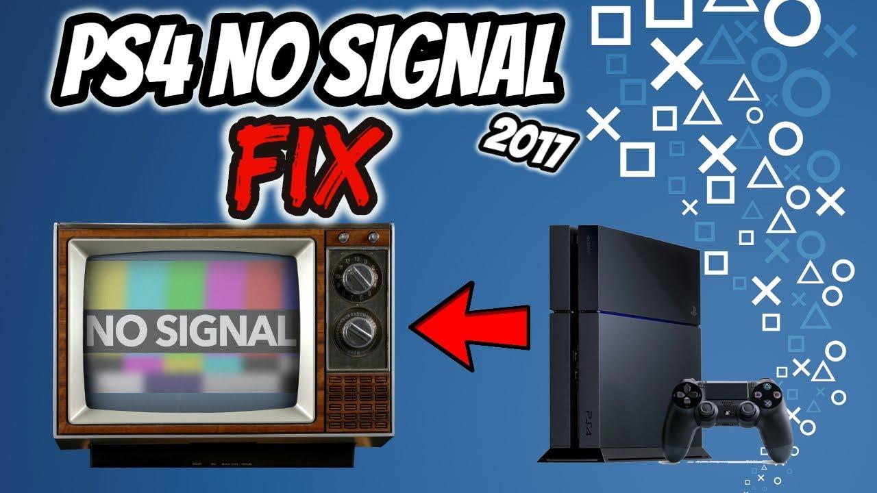 PS4 No Signal fix 2017