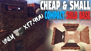 BEST SMALL CHEAP Solo Base! (High-Pop Vanilla) | Rust Base Building