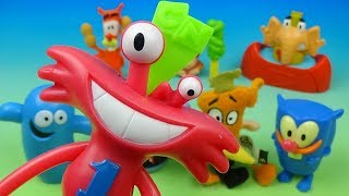 2007 Cartoon Networks Friends set of 8 McDonalds Happy Meal Kids Toys Video Review