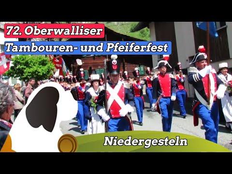 72. Oberwalliser Tambouren- und Pfeiferfest 2013 in Niedergesteln mit allen 26 Vereinen