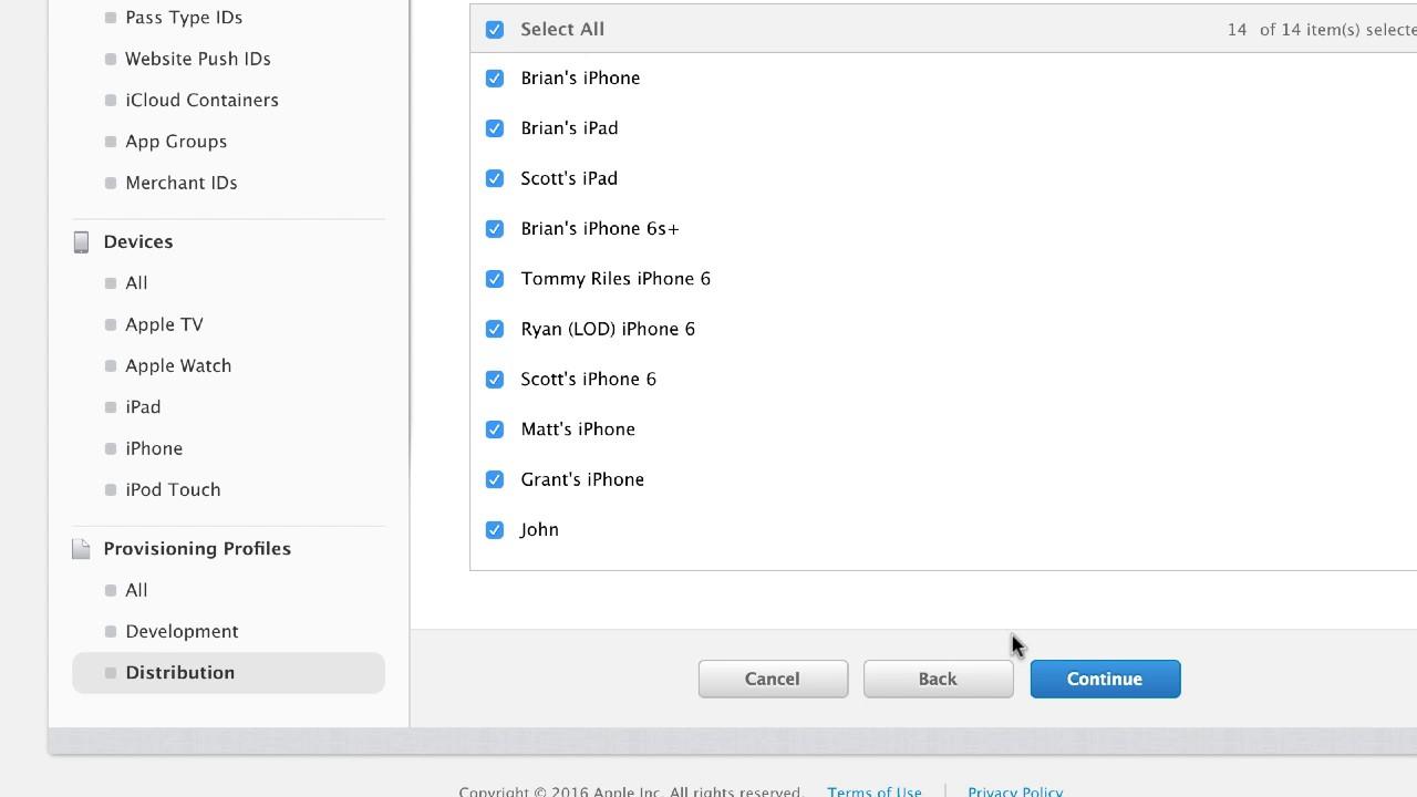 iOS Push Notifications: Create provisioning profile