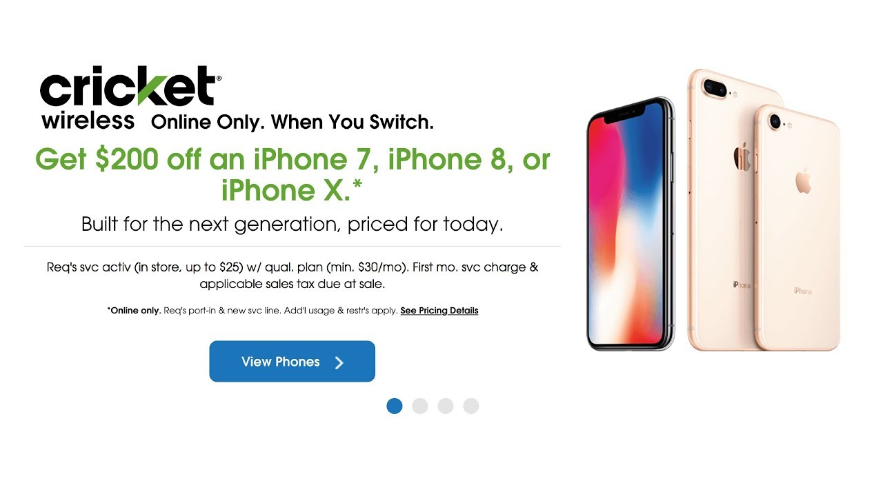 Cricket Wireless Get 200 Off Iphone 7 Iphone 8 Or Iphone X