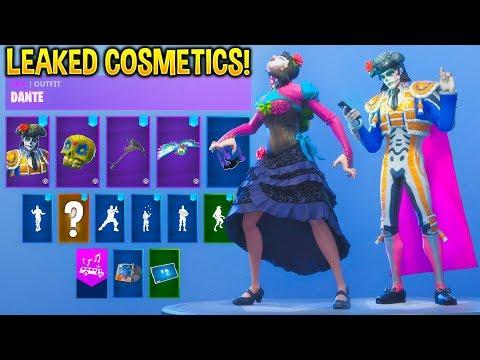 *NEW* Leaked Fortnite Skins & Emotes..!! (Dante, Rosa, Zombie, Criss Cross...)