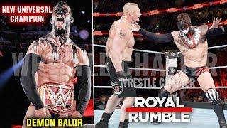 'DEMON' Finn Balor Vs Brock Lesnar ! Finn Balor WINS Universal Title Royal Rumble 2019 Highlights