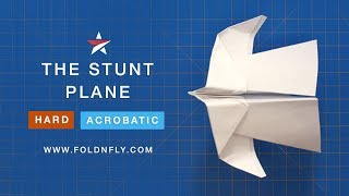Fold 'N Fly ✈ The Stunt Paper Airplane