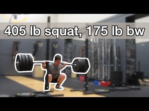 405 squat @ 175 bodyweight