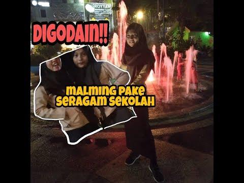 #PebVlog || CHALLENGE MALMING PAKE SERAGAM SEKOLAH + GOMBALIN COWO