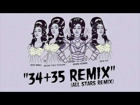 Ariana Grande - 34+35 (The 'All Stars' Remix) feat. Nicki Minaj, Doja Cat and Megan Thee Stallion