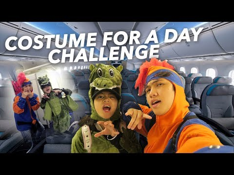 Download Youtube: WEARING COSTUME EVERYWHERE FOR A DAY!! (ON THE PLANE) | Ranz and Niana