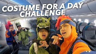 connectYoutube - WEARING COSTUME EVERYWHERE FOR A DAY!! (ON THE PLANE)   Ranz and Niana