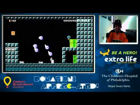 Super Mario Maker Charity Stream For Children's Hospital of Philadelphia (9-22-15  Part 2)