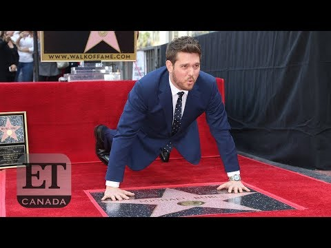 Michael Buble Gets Star On Hollywood Walk Of Fame | FULL SPEECH