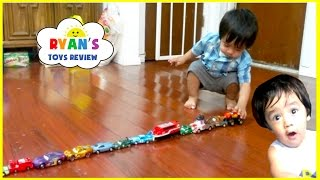 Memories before YouTube Flashback! Kid playing with toy cars and trains!