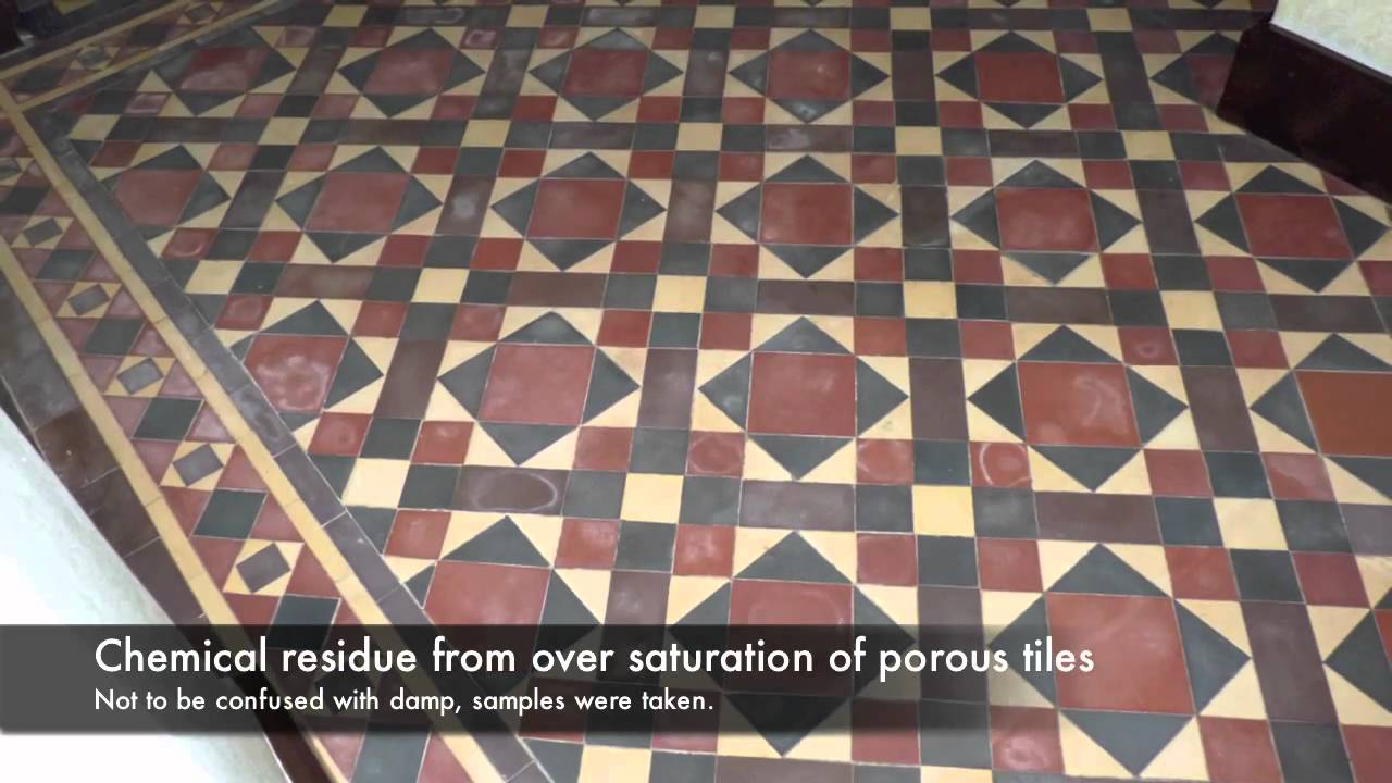 Victorian Minton Floor Restoration Stamford Hd Youtube