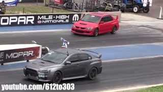 Mitsubishi EVO 8 vs EVO 10 Drag Race