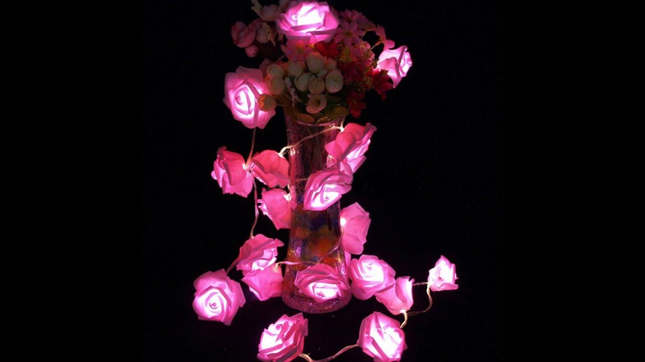 Led novelty rose flower fairy string lights simulation rose floral led novelty rose flower fairy string lights simulation rose floral pink led night light wedding youtube mightylinksfo Choice Image