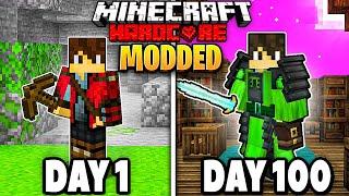 I Survived 100 Days In Minecraft Modded Hardcore | 500+ ADVENTURE MODS