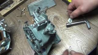 видео Проверка и ремонт ускорительного насоса карбюратора 2108, 21081, 21083 Солекс