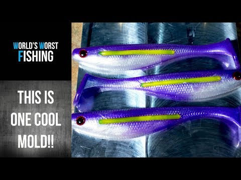 BLOODLINE SWIMBAIT MOLD REVIEW!!!  Demonstrating A Unique Mold For Soft Plastic Swimbaits