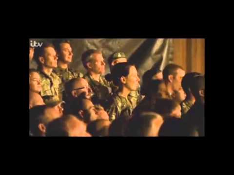 Gary barlow sings Home for troops in Afghanistan