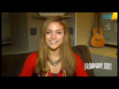 """Christy Altomare Shows Off Her Buckets of Candy & Private Shower Backstage at """"Mamma Mia!"""""""