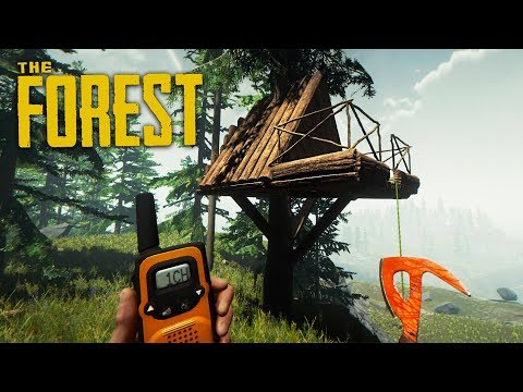 BUILDING OUR NEW BASE!! (The Forest)