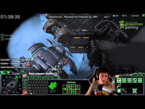 Starcraft 2: Legacy of the Void Highlight - Full Terran Pressure Build 2 Base Barracks Attack Timing