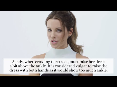 Kate Beckinsale on How to Get a Guy in the 1800's  Vanity Fair
