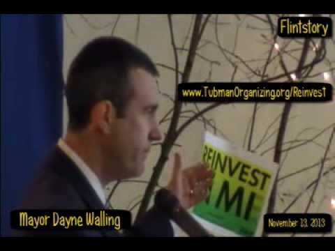 Flint Mayor Dayne Walling Addressing REINVEST EXPRESS