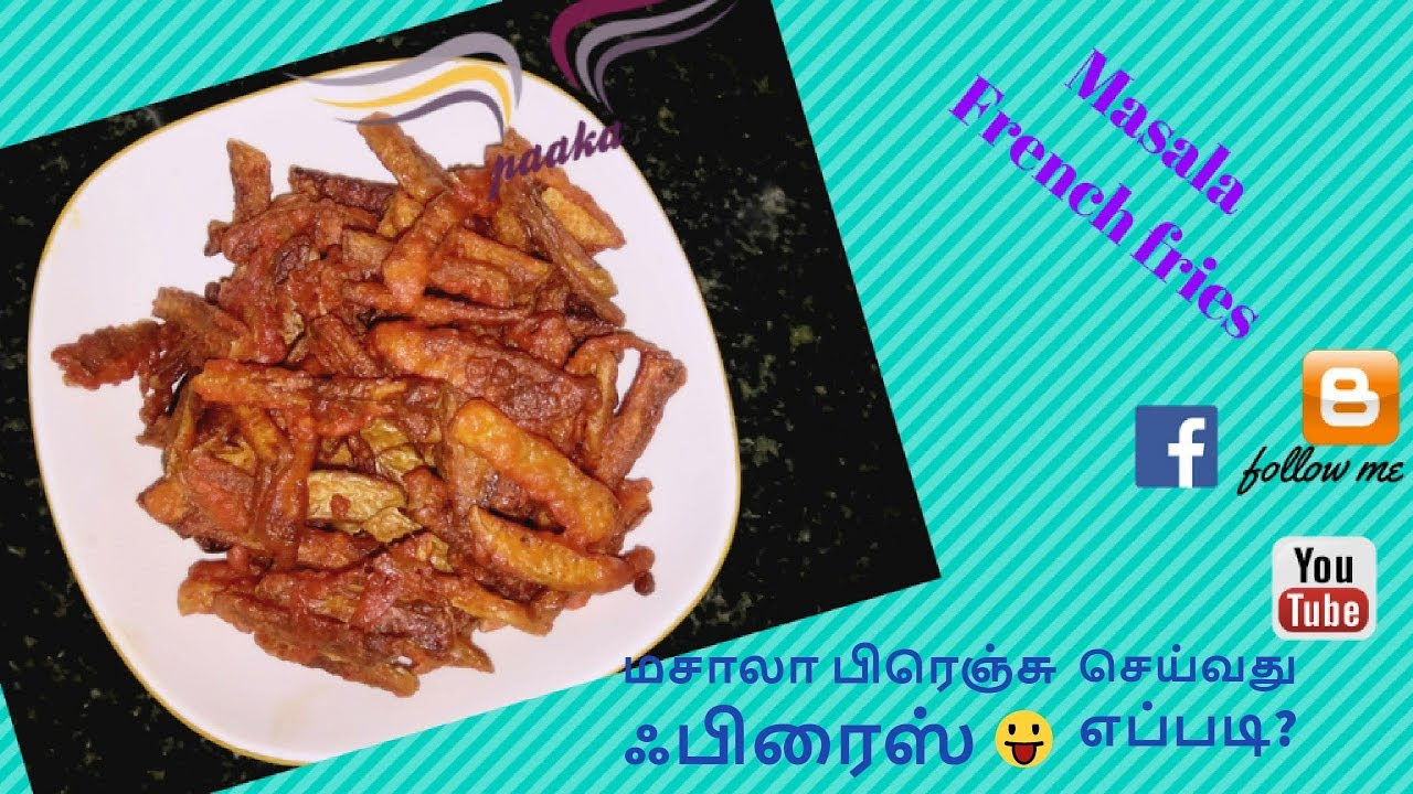 Masala french fries /masala french fries recipe in tamil/ tea time ...