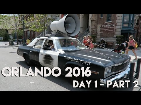 ORLANDO & FLORIDA VLOG | DAY 1 - PART 2 | UNIVERSAL STUDIOS & ROYAL PACIFIC RESORT 2016